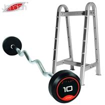 Sada bicepsových činek JORDAN zalomených 10-45kg + stojan