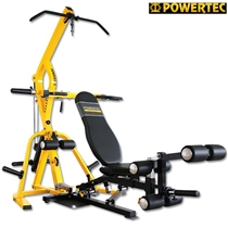 Posilovací stroj POWERTEC WB-LS Workbench Leverage Gym - Žlutá