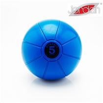 Gumový medicinball JORDAN 5 kg tmavě modrý