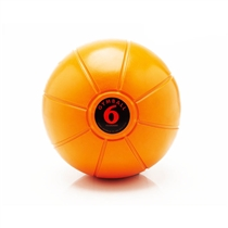 Gumový medicinball JORDAN 6 kg oranžový