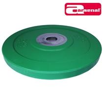 Bumper kotouč odhazovací kalibrovaný ARSENAL 10 kg zelený