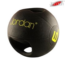 Medicinball JORDAN s dvojitým úchopem 6 kg - žlutý
