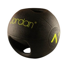Medicinball JORDAN s dvojitým úchopem 7 kg - zelený