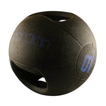 Medicinball JORDAN s dvojitým úchopem 9 kg - modrý