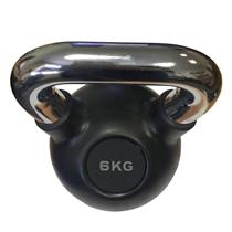 Kettlebell pogumovaný s chromovým madlem ARSENAL 6 kg