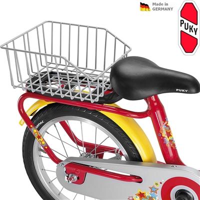 Zadní košík na kolo PUKY stříbrný