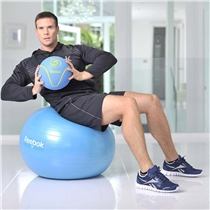 gymnasticky mic - gymball - cviky - prsa a bricho