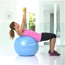 gymnasticky mic - gymball - cviky - horni polovina tela