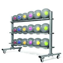 Horizontální stojan JORDAN pro 20 medicinballů
