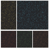 Podlaha SPORTEC SPLASH modrá 10mm, drobné + velké granule EPDM