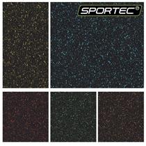 Podlaha SPORTEC SPLASH modrá 12mm, drobné + velké granule EPDM