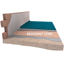 Akustická izolace pod plovoucí podlahy a parkety DAMTEC Resistant cork 5mm