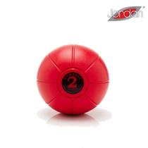 Gumový medicinball JORDAN 2 kg červený