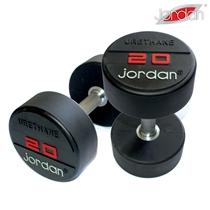 Jednoruční činky pogumované JORDAN URETHANE 52,5 - 62,5 kg (5 párů - po 2,5 kg)