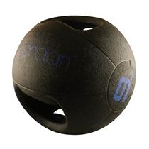 Medicineball JORDAN s dvojitým úchopem 9 kg - modrý