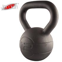Pogumovaný kettlebell JORDAN Fitness Cast Iron 12 kg