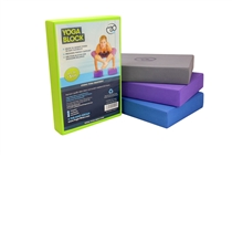 Fitness Mad - Fialový pěnový blok na jógu úzký (výška 7cm)