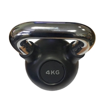 Kettlebell pogumovaný s chromovým madlem ARSENAL 4 kg