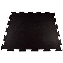 Gumová podlaha Puzzle 1x1m žlutá 15% EPDM, 10mm