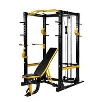 Power Rack IRONLIFE s kladkou a lavičkou, výška 218 cm