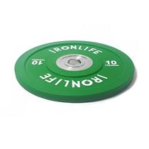 Urethanový kotouč IRONLIFE Bumper Competition 10 kg, zelený