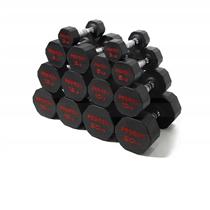 Pogumované jednoruční činky PROIRON 3 - 20 kg (7 párů)