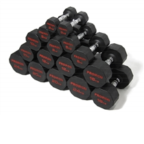 Pogumované jednoruční činky PROIRON 3 - 24 kg (8 párů)