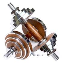Činka jednoruční PROIRON Walnut Steel 2 x 10 kg (pár)