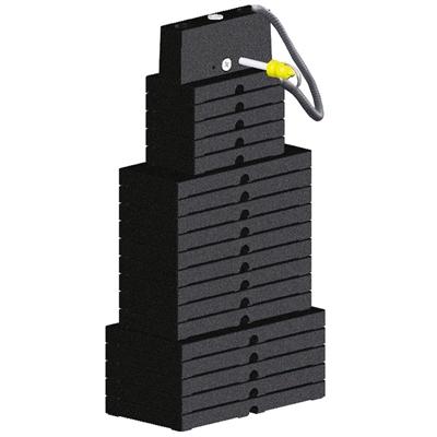 Zátěžový sloupec 90 kg pro stroje IMPULSE FITNESS