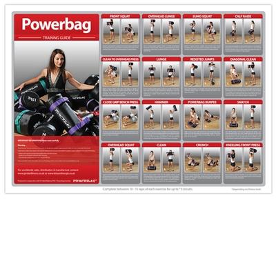 JORDAN ACADEMY A1 Powerbag Poster, lamino, 10 cviků, 84 x 60 cm