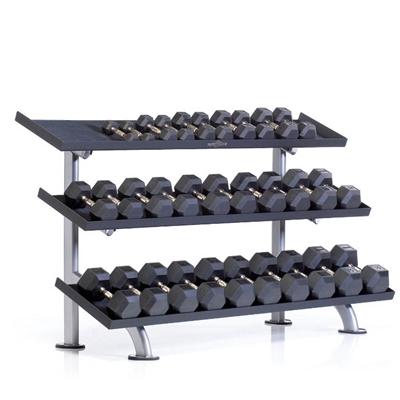 Stojan na činky TUFF STUFF 3-tier hex dumbell rack, 15 pair