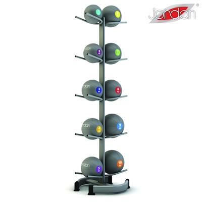 Vertikální stojan JORDAN pro 10 medicinballů