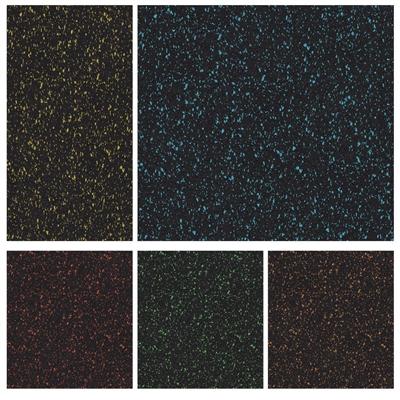 Podlaha SPORTEC SPLASH modrá 8mm, drobné + velké granule EPDM