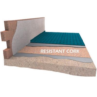 Akustická izolace pod plovoucí podlahy a parkety DAMTEC Resistant cork 2mm