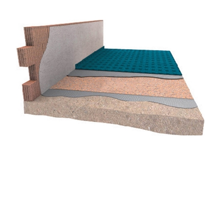 Akustická izolace pod plovoucí podlahy a parkety DAMTEC Resistant cork 3mm
