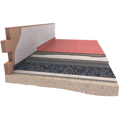 Akustická podložka DAMTEC Estra 4mm pod potěr nebo anhydrit