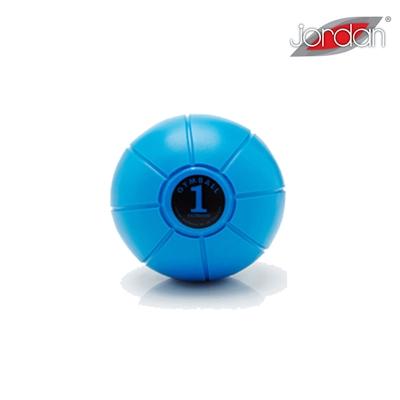Gumový medicinball JORDAN LOUMET 1 kg modrý