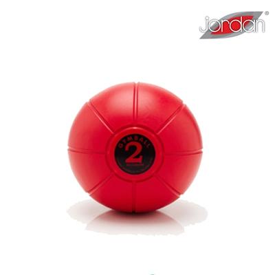 Gumový medicinball JORDAN LOUMET 2 kg červený