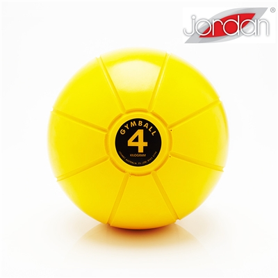 Gumový medicinball JORDAN LOUMET 4 kg žlutý