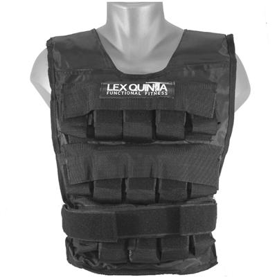 Zátěžová vesta LEX QUINTA 15 kg - černá