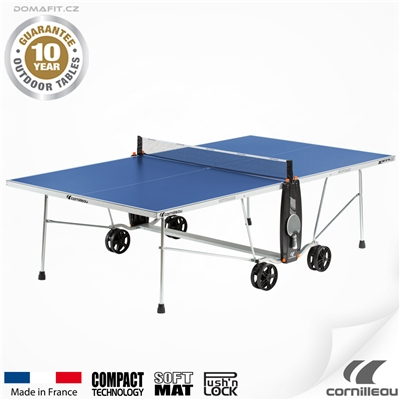 Stůl na stolní tenis CORNILLEAU 100 S Crossover, modrý