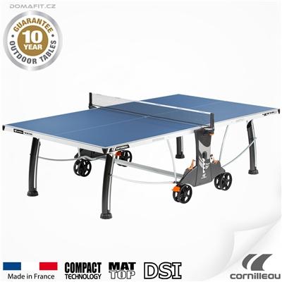Stůl na stolní tenis CORNILLEAU 400 M Outdoor Modrý
