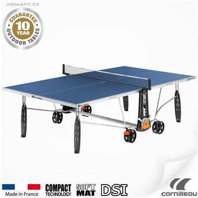Stůl na stolní tenis CORNILLEAU 250 S Outdoor Modrý