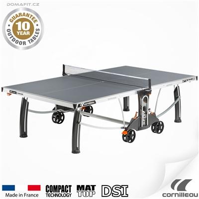 Stůl na stolní tenis CORNILLEAU 500 M Outdoor Šedý