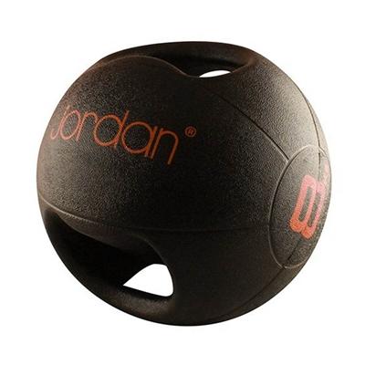 Medicinball JORDAN s dvojitým úchopem 8 kg - červený