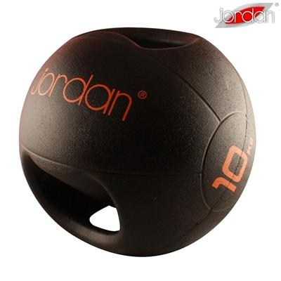 Medicinball JORDAN s dvojitým úchopem 10 kg - oranžový