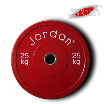 Bumper kotouč odhazovací JORDAN 25 kg červený