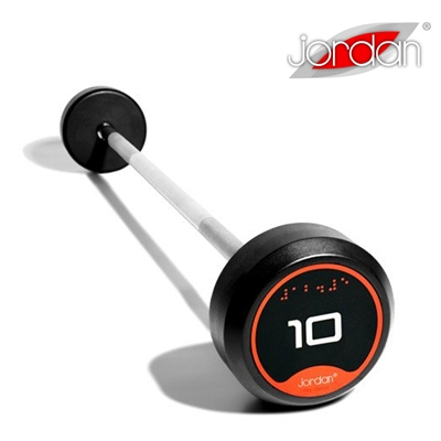 Bicepsová pogumovaná činka Jordan Fitness 15 kg