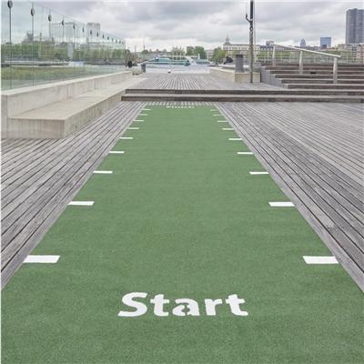 Sprinterská dráha z trávníku s bílým nástřikem - SPRINTTRACK 20x2m