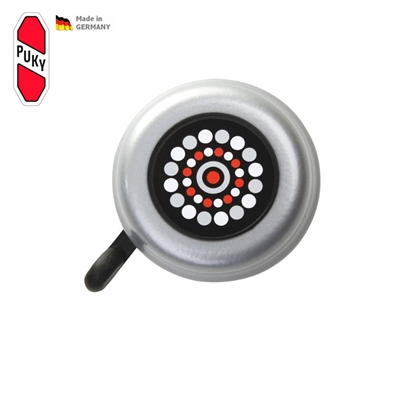 Zvoneček G22 pro koloběžky, odrážedla a kola PUKY šedý